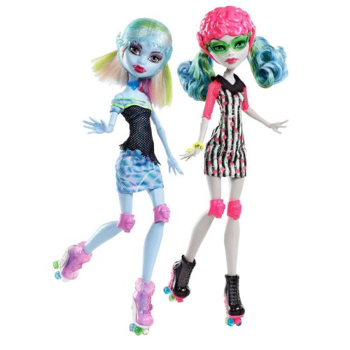 Monster High Exclusivo Skultimate Roller Maze Ghoulia Yelps & Abbey Bominable Muñeca...