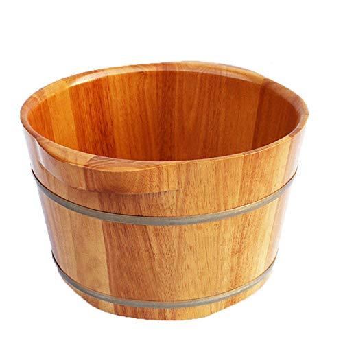 FAP Pedicure Bekken Binaural Oak Barrel Voetbad Barrel Oak dubbele oor voetbad Barrel Foot Pub houten voetbekken, houtkleur, a