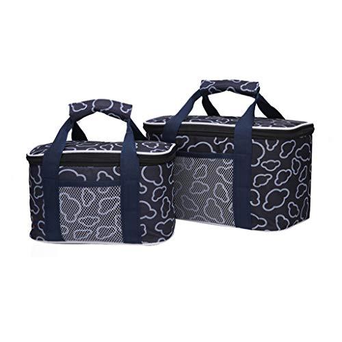 Sac isolé, boîte de refroidisseur multifonctionnel durable portable imperméable en plein air ménage voyage barbecue fruits stockage boîte d'isolation de réfrigération (Couleur : Bleu)