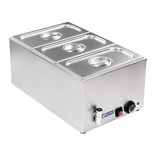 Royal Catering Bain Marie Electric Food Warmer Buffet Warmer RCBM-1/3-150A-GN (1200 W, Temperature range 50-95 °C, GN 1…
