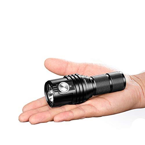 IMALENT MS03 Linterna táctica súper brillante EDC 13000 lúmenes – Utiliza 3 piezas CREE XHP70 2nd LED Linterna de mano de alto lúmenes – para camping, senderismo, seguridad y emergencia