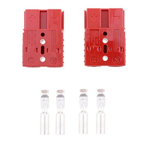 Sharplace 600V Batterie Schnell Winde Anschluss Stapler Verbinden Für Wetter und vibrationsresistente Verbindung - Ampere Auswählen - Rot - 120A