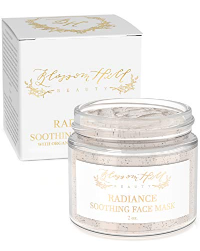 ORGANIC Hydrating Clay Face Mask - Anti Aging Facial Treatment for Dry, Oily, or Normal Skin - Natural Clean Beauty Skin Care for Cleansing & Exfoliating - Wash Off Detox Body Mud Masks for Women