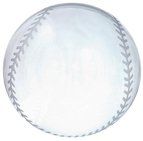 Amlong Crystal Baseball Paperweight 3 inch with Gift Box