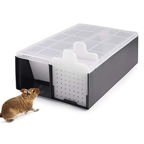 Colmanda Trampa para Ratas, Ratonera Ratas Vivos Trampa para Ratones Vivos Ratas de Captura de Plástico para Jardín Cocina Garaje