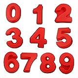 OrangeClub - Set completo di stampi in silicone con numero di stampi per torte, per compleanno, matrimonio, anniversario, per 0-9 numeri