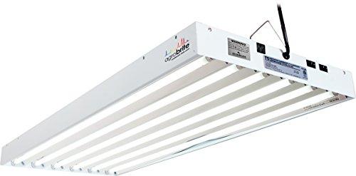 Hydrofarm Agrobrite FLT46 T5 System, 4 Feet, 6 Tube Fluorescent Grow Light, White