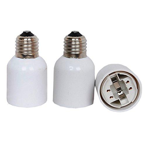 E27 to G24 Adapter,TWDRTDD 3 PACK E26/E27 Edison Screw to 4 Pin G24...