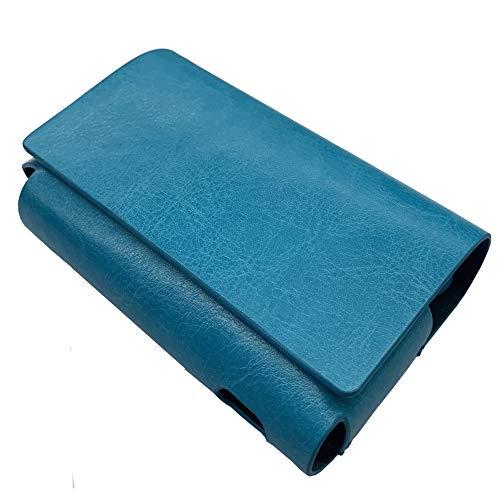 IQOS 3 専用 アイコス3 ケース (ブルー) iQOSケース シンプル 無地 保護 カバー 収納 カバー 全13色 電子たばこ 合皮PUレザー