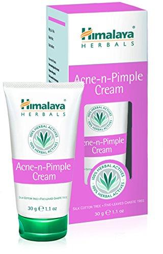 Himalaya Acne-N-Pimple Cream - Crema Para La Espinilla Y El Acné | Fórmula De Limpieza Profunda Que Previene Las Espinillas, Manchas Y Imperfecciones | Contiene Aloe Vera Para Sanar Y Suavizar La Piel, 30g