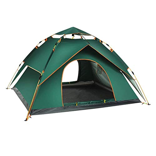 Qiutianchen Outdoor Tent, Double Layer Dome Tent, Camping Tent, 3-4 Person Dome Tent Professional Waterproof & Windproof Double Layer Suitable for Hiking, Outdoor Glamping, Fishing And Travel,Gre