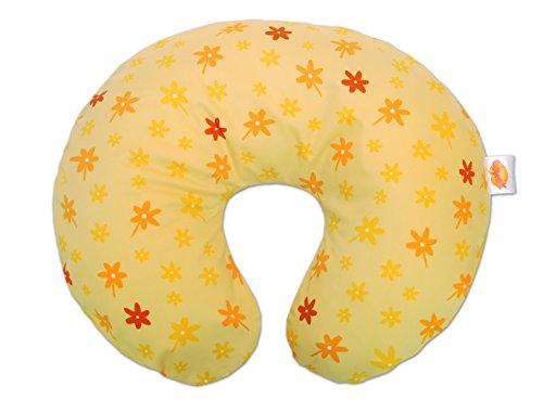 Theraline 59404102 Wynnie - das amerikanische Stillkissen inklusive Bezug, blümchen gelb