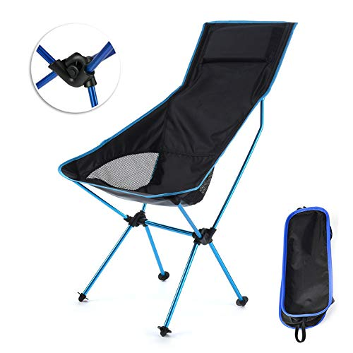 FTYU Chaise de Camping Pliante légère et Portable avec Un Sac de Transport de Ceinture antidérapant Robuste, adapté pour Le Pique-Nique randonnée Chaise de pêche Pliante