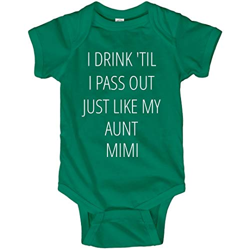 FunnyShirts.org Baby Drinks Like Aunt Mimi: Infant Bodysuit