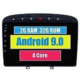RoverOne Autoradio per Peugeot 408 per Peugeot 308 308SW 2010-2016 con Navigazione GPS Android Touchscreen Stereo Multimedia Bluetooth Wifi USB Mirror Link