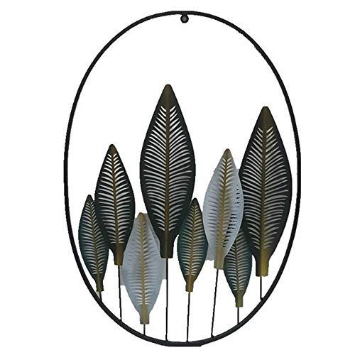 ZHICHUAN Escultura Obra Pared Del Metal Arte de la Pared, Deja Huecos Decoración de la Pared de Hierro Forjado para Sala de Estar Dormitorio Pendiente de Los Accesorios Listo para C