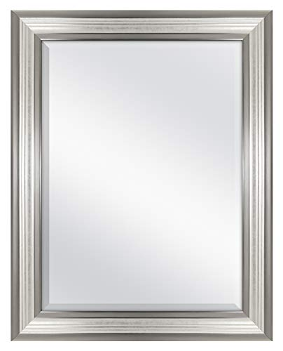 MCS 18x24 Inch Ridged Mirror, 23x29 Inch Overall Size, Silver -