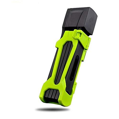 JZUKU Cadena de Bicicletas de Bicicletas Cerradura de Bicicleta Plegable antirrobo Cerradura Ligera antihidráulica Pinza Cerradura de vehículo eléctrico (Color : Green)