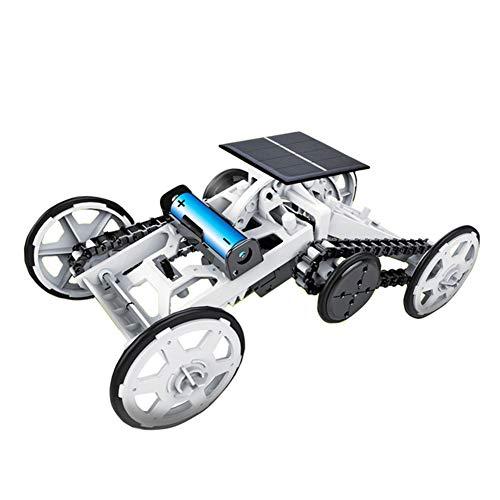 DIY Zonne-Energie 4WD Klim Wagensets, Zonnepaneel/Accu Dubbele Modus STEM Educatief Speelgoed, Wetenschappelijk Experiment Activity Toys Geschenken Voor Kinderen Jongens Meisjes Leeftijd 6+