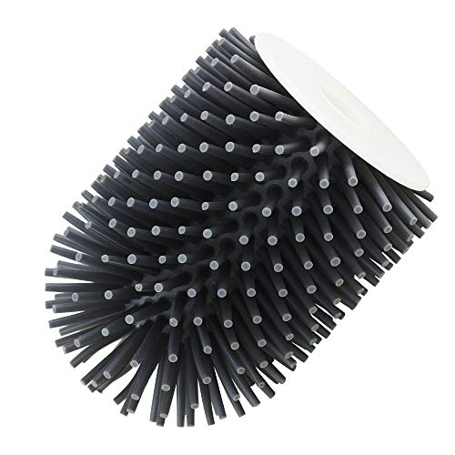 UPP® escobilla de baño de silicona antiadherente, cabezal de repuesto I cepillo de silicona para inodoro, larga vida útil (cabezal de repuesto, mango y soporte por separado)