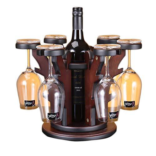 YAeele Pequeño Vino de Madera Estante de Almacenamiento 1 Botellas for la encimera y Apartamento Muebles, viviendo  Dar como Regalo de Boda