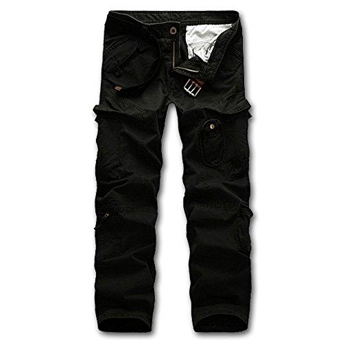 Emmala heren cargobroek zonder stijlvolle losse multi-lange zakken broek unicum bermuda broek vrijetijdsbroek mannen Nner mode effen kleuren jongens