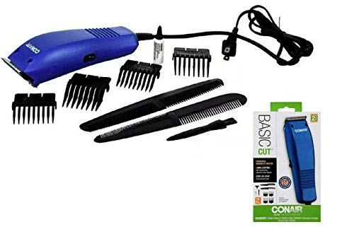 - 41HorkImykL - CONAIR Basic Cut Home Hair Cutting Clippers 10 PC Set Barber Kit HC99FD-BLUE