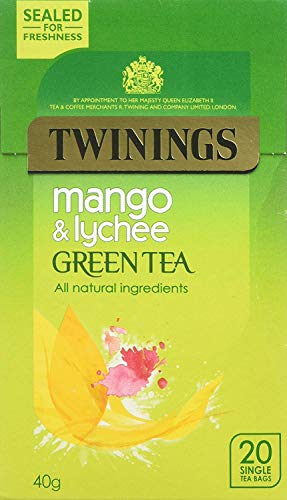 Twinings Green Tea with Mango & Lychee 20 Btl. 40g - Grüner Tee mit Mango & Lychee