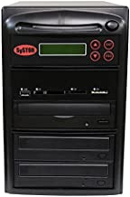 Systor Multi Media Flash Backup Center + 1 to 2 SATA DVD Duplicator - Back up Different Flash Memory Drives (USB/SD/CF/MS/MMC) to CD/DVD