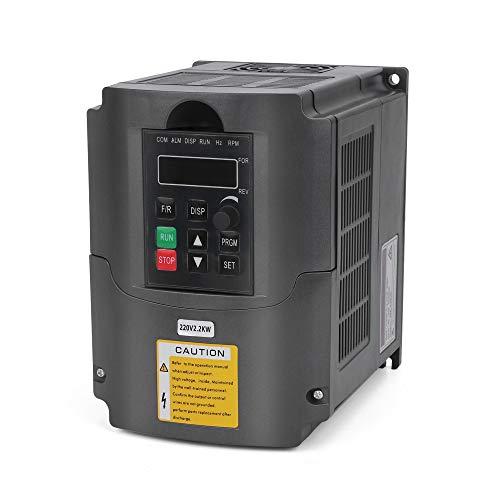 VFD 220V 2.2KW 3hp Variador de frecuencia variable, craftsman168 CNC VFD Convertidor inversor de variador de motor para el eje de control de velocidad del motor Serie YL (2.2KW, 220V)