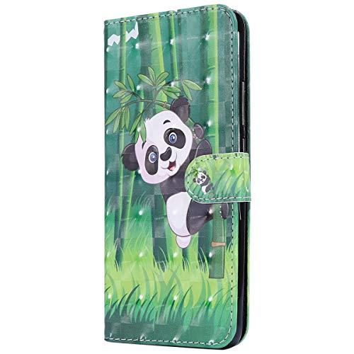 Herbests Kompatibel mit Xiaomi Redmi S2 Lederhülle Glitzer 3D Glänzend Bunt Muster Hülle Leder Tasche Bookstyle Brieftasche Schutzhülle Flip Hülle Cover Handytasche,Panda