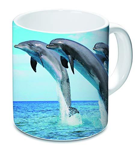 Taza de delfín de 9,5/8/8 cm