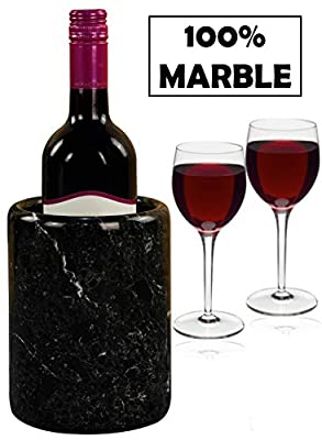 """Wine Chiller Tabletop Handmade Marble Wine Chillers - 5x5x6.5 Inch"""" Tall Portable Home & Kitchen Decoration - Champagne Cooler Best for Utensil, Flower Vase & Stationery Holders"""