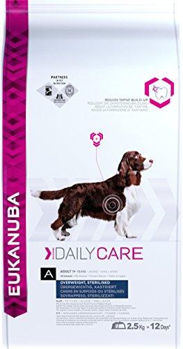 Eukanuba Daily Care Adulto - Alimento seco para perros con sobrepeso y esterilizados, 2,5 kg