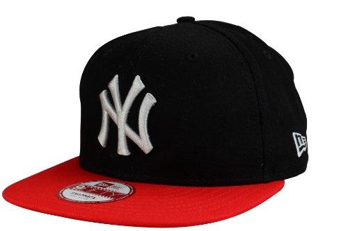 New Era New York Yankees Casquette Snapback Cap Cotton Block de en noir/scarlet | Taille: S/M
