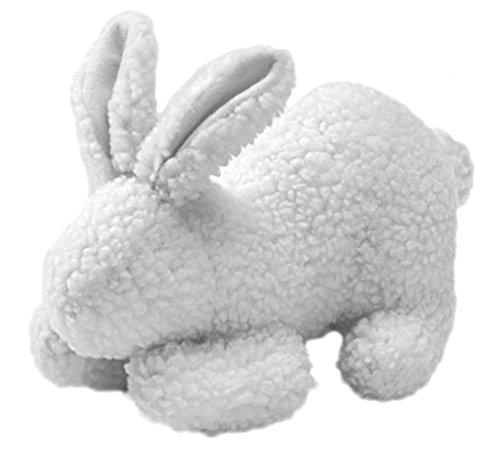 HONDER hondenspeelgoed, met knuffelig lamsvelimitatie om te spelen en te knuffelen, 20 cm, konijntje