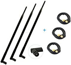 3 9dBi 2.4GHz 5GHz WiFi RP-SMA Antennas + 10ft Extension Cable for ASUS RT-AC68U