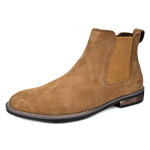 Bruno Marc Men's Urban-06 Tan Suede Leather Chukka Ankle Boots – 10 M US