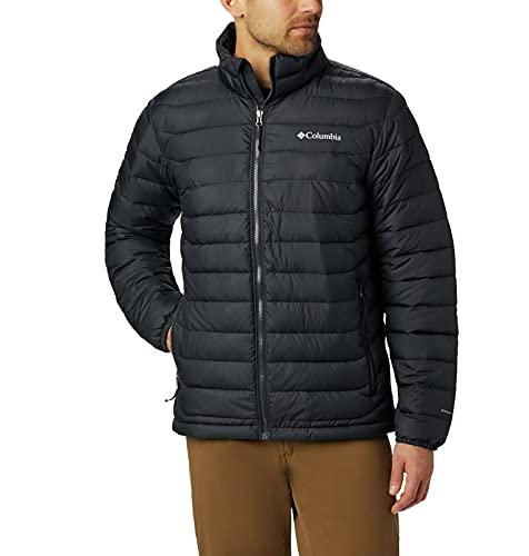 Columbia Powder Lite Jacket Chaqueta, Hombre, Negro (Black), S