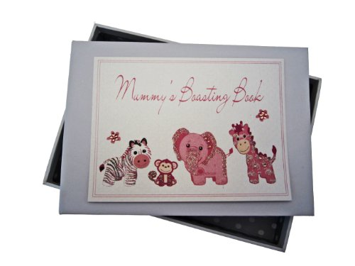 White Cotton Cards Petit album photos avec titre en anglais Mummy's Boasting Book Rose