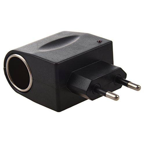 WOVELOT 12V DC Adapteur d'allume-Cigare de Voiture Adaptateur Convertisseur de Puissance 110V-220V AC Alimentation a 12V DC