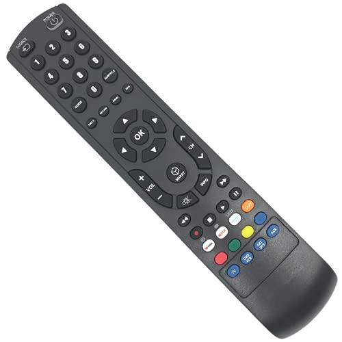 PATABIT Telecomando Universale Smart Tv 4 in 1 Compatibile con Tutte Le Marche Per TV DVD SAT DTT Con Tasti Netflix Amazon Video Youtube 2xAAA Non Incluse Programmazione WEB con QrCode (4 in 1)