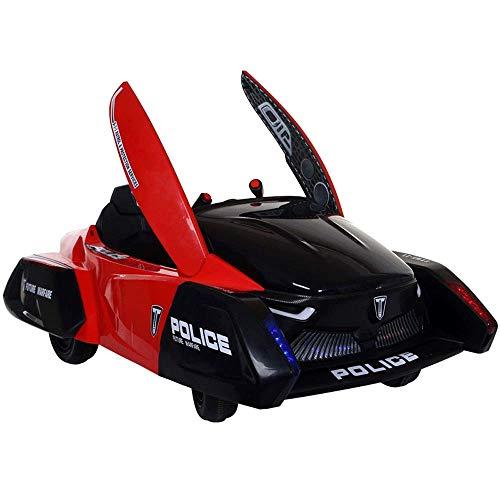 De los niños del coche eléctrico en las cuatro ruedas de control...