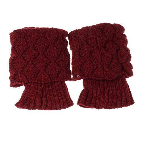 TOBEEY Scaldamuscoli da donna Calzini caldi invernali lavorati a maglia Copriscarpe all'uncinetto