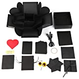 MYSdd Hexagon Surprise Explosion Box DIY Handmade Scrapbook Photo Album Wedding Gift Box for Valentine Boxes - Box,3