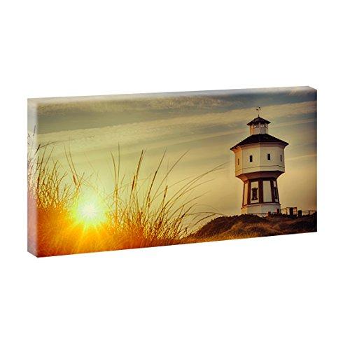 Langeoog - Wasserturm   Panoramabild im XXL Format   Kunstdruck auf Leinwand   Wandbild   Poster   Fotografie   Verschiedene Formate und Farben (40 cm x 80 cm, Farbig)