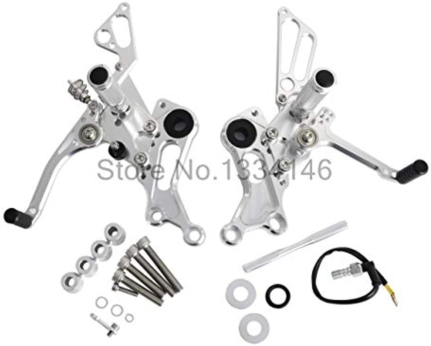 Frames & Fittings CNC Adjustable Foot Pegs Rearset Footrests Rear Sets for Ducati Monster 696 20082013 796 20102013 1100 S Evo