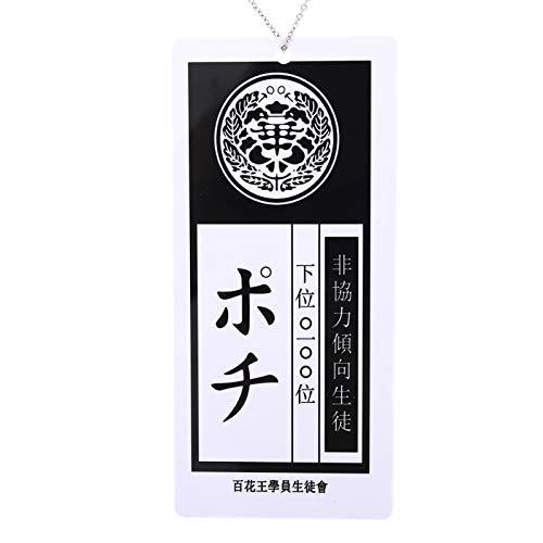 upain Kakegurui - Collar con colgante de tarjeta de Saotome de Japón de Anime Jabami Yumeko, adorno para hombres y mujeres, colección de cosplay (estilo 3)