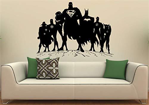 pegatinas de pared tortugas ninja Superman Etiqueta de la pared Etiqueta de vinilo de pared DC Comics Superhero Interior Interior Arte Murales de pared Dormitorio decoración del hogar