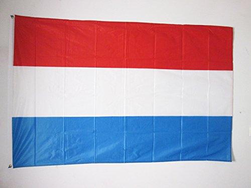 AZ FLAG Flagge Luxemburg 150x90cm - LUXEMBURGISCHE Fahne 90 x 150 cm Aussenverwendung Metallösen - flaggen Top Qualität